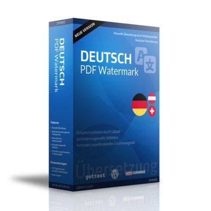 WooCommerce PDF Watermark DEUTSCH